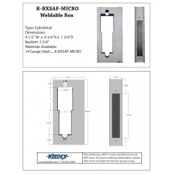 Keedex K-BXSAF-MICRO Lock Box - Computerized Security Systems - Micro Card Mortise