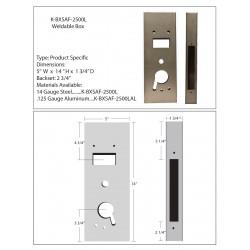 "Keedex K-BXSAF-2500L Lock Box - Computerized Security- Saflok® 2500 Classic Mortise 14"" Tall"