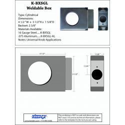 "Keedex BXSGL Lock Box Single, 2 3/8"" Backset, 2 1/8"" Hole 1 1/2"" Wide 4.25"