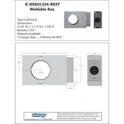 "Keedex K-BXSGL234-BEST Lock Box Single, 2 3/4"" Backset, 2 1/8"" Hole, Best 9K"