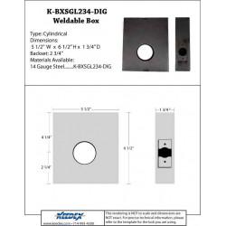 "Keedex K-BXSGL234-DIG Lock Box Single 2 3/"" Backset for Various Digital Locks"
