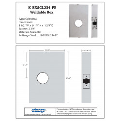 "Keedex K-BXSGL234-FE Lock Box Single, 2 3/4"" Backset, 2 1/8"" Hole • Schlage FE Line"