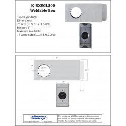 """Keedex K-BXSGL500 5"""" Backset Single Hole Box 2 1/8"""" Hole"""