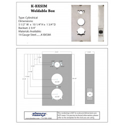 Keedex K-BXSIM DormaKaba 1&5000, Alarm Lock DL2700/3000(T2&T3)Codelock CL5000 14 Gauge Steel