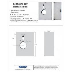 Keedex K-BXSIM-200 Weldable Gate Box - Kaba Ilco 200 Series. 904, 905, 918 & 919