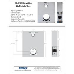 Keedex K-BXSIM-6 Weldable Gate Box - Kaba Ilco 6000 Series