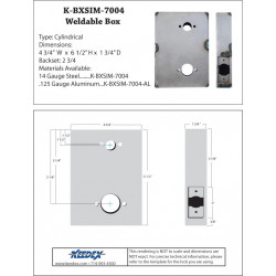 Keedex K-BXSIM-7004 Weldable Gate Box - Kaba Ilco 7004