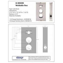 Keedex K-BXSIM Kaba Ilco 1000 Series, Alarm Lock DL2500