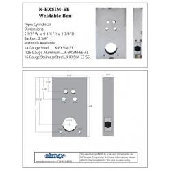 Keedex K-BXSIM-EE Weldable Gate Box Kaba Ilco EE1000 Series