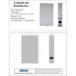 Keedex K-BXSIM-NH Weldable Box for You Can Prepare for Stand Alone Access