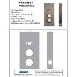 "Keedex K-BXSIM-RF Weld Box Kaba Ilco Radio Frequences 12 1/4"" x 5 1/2"""