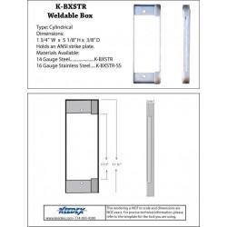 Keedex K-BXSTR Weldable Bracket For Large ANSI Strike