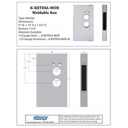 Keedex K-BXTESA-MOR Weldable Box Onity Entry Systems Mortise Lock