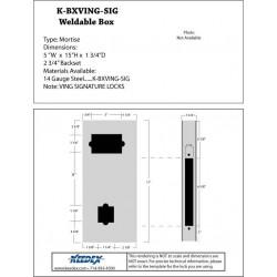 Keedex K-BXVING-SIG Weldable Box Vingcard Signature Series