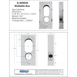 Keedex K-BXWIN Weldable Gate Box - Winfield Microkey Tubular 1000 Series
