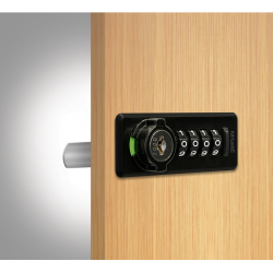"Codelocks KL20 Series Mechanical Cabinet Lock- Suitable for upto 3/4"" Thick Door, Finish-Black"