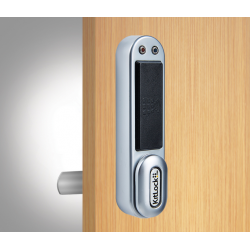 "Codelocks KL1050 Series RFID Kit with Interchangeable Spindles to fit 1/4"" - 1"" Thick Door, Finish-Silver Grey"