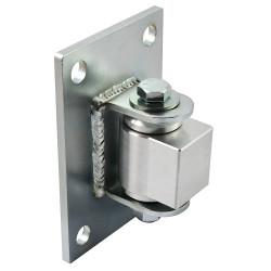 "D&D CI3740 Shut It Steel/Aluminum Combo Half Bolt-on For 4"" + Posts, Steel Finish/Aluminium Body"