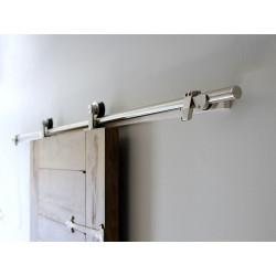 "AHI 500 Burn Door System w/ 72"" Standard Track, 304 Grade Stanless steel Material, Stainless steel Finish"