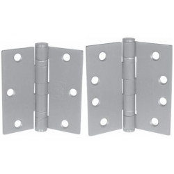"PBB BB81 Standard Weight 5-Knuckle Full Mortise EH24-Wire Steel Hinge 4.5""x4.5""Finish Satin Chrome"