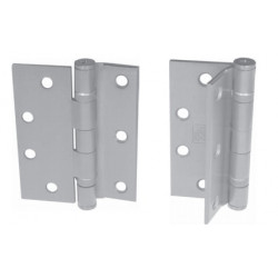 "PBB BB8245652 Standard Weight 5-Knuckle Half Mortise Template Ball Bearing Satin Chrome 4.5"" Steel Hinge"