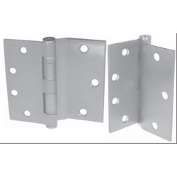 "PBB BB8445652 Standard Weight 5-Knuckle Template Half Surface Ball Bearing Satin Chrome 4.5"" Steel Hinge"