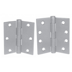 PBB PB51 5-Knuckle Standard Weight Full Mortise Template Plain Bearing Stainless Steel Hinge