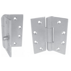 PBB PH51 Heavy Wieght 3-Knuckle Full Mortise Concealed Bearing Prison Satin Stainless Hinge