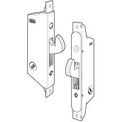 Adams Rite MS1847 Series MS&reg Deadlock/Deadlatch for Ultra-Narrow Stile Siding Doors in Satin Stainless