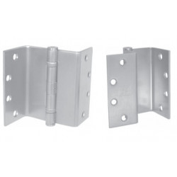 "PBB SCBB8145 5-Knuckle Standard Weight Swing Clear Full Mortise Template Ball Bearing 4.5"" BEV Steel Hinge"