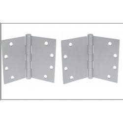 PBB WTPB51 5-Knuckle Standard Weight wide Throw Full Mortise Template Ball Bearing Satinless HInge