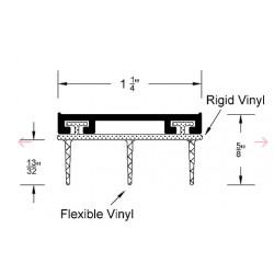 """Reese 1030-AN Hospitality Line, Dark-AN Door Bottoms,Vinyl Insert, 1-1/4"""" x 5/8"""""""