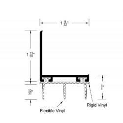 """Reese 1031-AN Hospitality Line, Dark-AN Door Bottoms,Vinyl Insert, 1-9/32"""" x 1-3/4"""""""