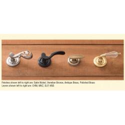 Brass Accents D07-L360 Netropol Rosette Door Hardware