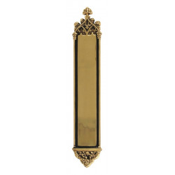 """Brass Accents D04-K564J Gothic Plate Single Deadbolt Door Set- Interior - 3-3/8"""" x 23-3/4"""""""