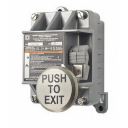 "Alarm Control EXP N/O and N/C, Class I & II, Division I & II, Group B, C, D, E, F & G, Nema 7 & 8 ""PUSH TO EXIT"""