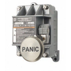"Alarm Control EXP Action Switch, Button labeled ""PANIC"""