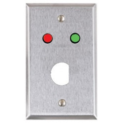 Alarm Control RP Single Gang, Stainless Steel Wall Plate, Red and Green LEDs