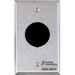 """Alarm Control RP-22 Single Gang, Stainless Steel Wall Plate, 1-1/8"""" Hole for SC628 Sonalert"""