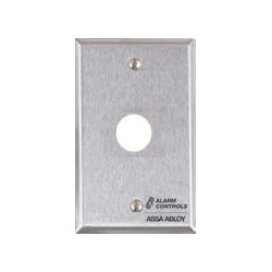 """Alarm Control RP-23 Single Gang, Stainless Steel Wall Plate, 3/4"""" Hole for PA-100 or PA-300 Piezo Sounders"""