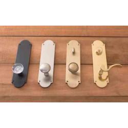 "Brass Accents D07-K024 Palladian Plate Door Set - 3"" x 12"""