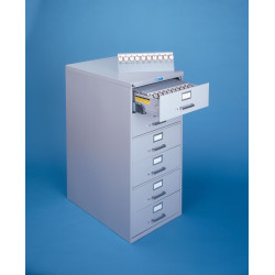 Lund C-260 Six Drawer Key Cabinets (Legal Size) with Two Tag Key System