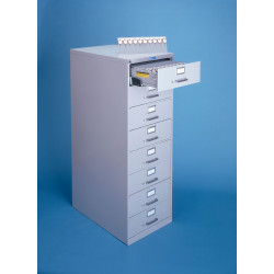 Lund 280 Eight Drawer Key Cabinets (Legal Size) without Key System