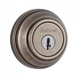 Kwikset 980 501 SMT CP KA4 Signature Series Single Cylinder Deadbolt with Smart Key, Rustic Bronze
