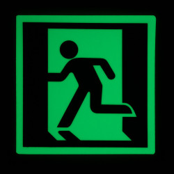 "Safe T-Nose DRML Egress Signs Running Man - Left - 5"" x 5"""