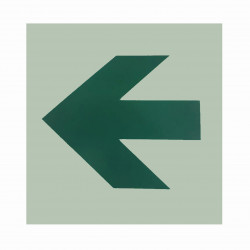 "Safe T-Nose DAS Egress Signs Directional Arrow - Horizontal - 5"" x 5"""