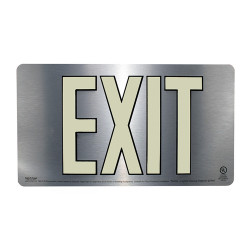 "Safe T-Nose EUL502 Silver Double Side Exit Sign-16"" x 9"""
