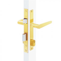 MTS MZ35BR Slimline Mortise Lock, Finish-Brass