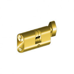 MTS C-410/55 Key Outside, Turn Knob Inside Replacement Cylinder, 2 Keys, Keyed Alike