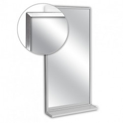 AJW U70 Angle Frame Mirror w/ Mounted Shelf